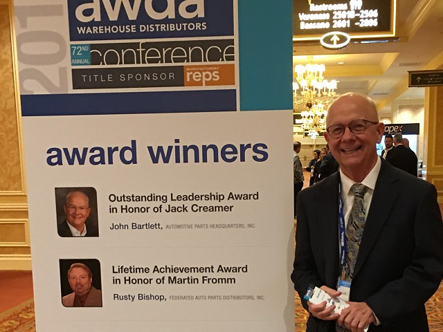 Automotive Parts Headquarters CEO John Bartlett Named Automotive Leader of the Year